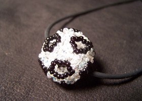 Soccer ball beaded bead