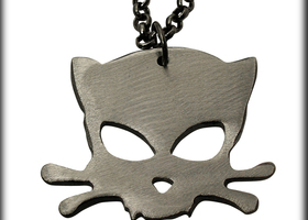 Outlaw Kitty Charm on Chain by WATTO