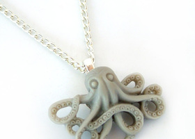 Enchanting Octopus Charm Necklace