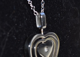 Triple Heart Pendant (Crystal & Stainless Steel)
