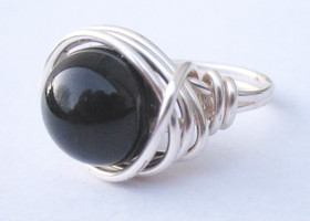 Black Swarovski Pearl Ring