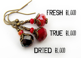 CHOOSE your RED - True Blood Earrings inspired by the HBO Series