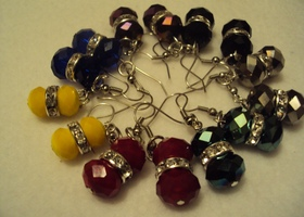 Mix Color Swarovski Earrings