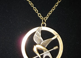 Hunger Games Inspired Arrow MockingJay Necklace