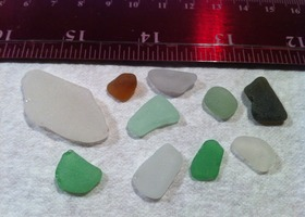 Authentic Sea Glass - hand collected from Puerto Rico