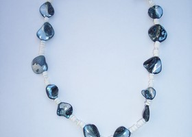 Necklace- Blue shell & Mother of Pearl