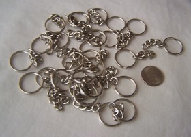 25 Split Key Rings Silver
