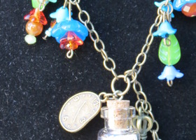 Alice's White Rabbit Necklace