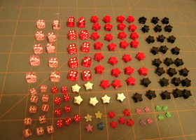 Dice and Star Beads 136 and 1 Sorting Case