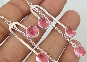 Beautiful Genuine Kunzite Earrings