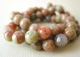 Genuine Gemstone Beads 6mm Gorgeous Undyed Autumn Jasper, x30