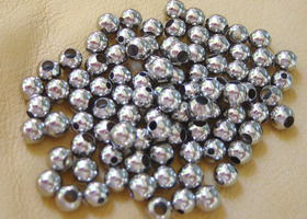 50 Silver & Gold Metal Beads - 6mm
