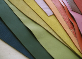 Leather Scraps - 50oz - Vibrant Colors
