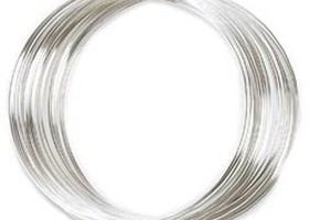 Silver Plated Memory Wire, 25 Continuous Loops- 60mm