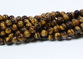 100 pcs Tiger Eye Round Gemstone Loose Beads Strand 4mm