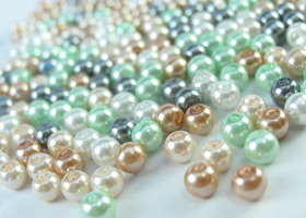 250 Glass Pearl Mix - 6mm