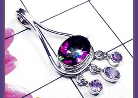 Enhanced Mystical Topaz & Amethyst Sterling Silver