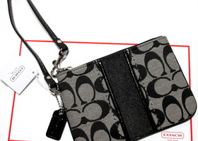Authentic Coach Signature Small  Wristlet