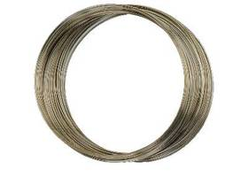 Antique Bronze Memory Wire- 25 Continuous Loops, 60mm