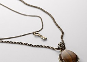 FOSSIL Tiger's Eye Two in One Necklace