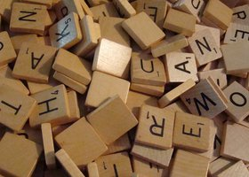 50 Scrabble Tiles for Jewelry Making