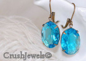 Vintage Aqua Estate Earrings
