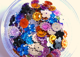 250 Sew on Rhinestones - Mix color, pattern, sizes