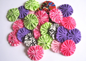 15 pcs Variety Assortment Cotton YoYo Appliques