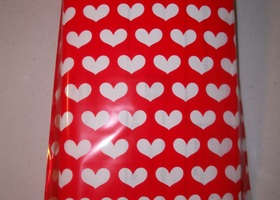 "8"" x 5"" Heart Cello Bags - Set of 25"