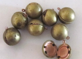 8 brass wrecking Ball lockets