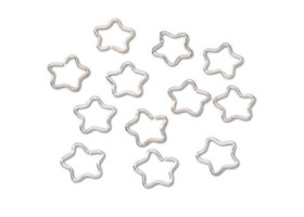 Bright Silver Star Jump Rings