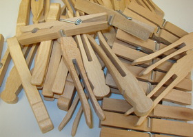 Lot of Clothespins