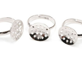 Adjustable Beadable Ring Forms - 18 Rings