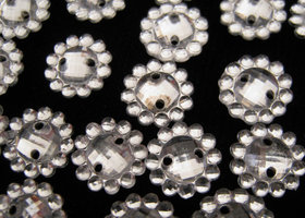 100 piece - Crystal Clear - Sew on Rhinestone Beads