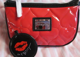 NWOT -Betsey Johnson Cosmetic/Clutch Bag and Mirror