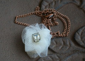 Copper Tulle Necklace