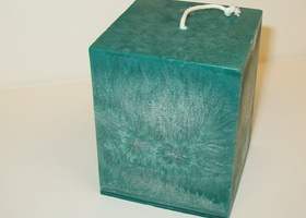 Square Green Candle
