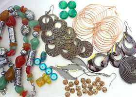 Large lot of jewelry parts and findings.