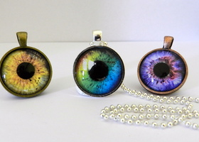 "3 Pc"" I've Got My Eye On You"" Pendant Set"
