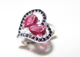 Ruby & Onyx Gemstone Ring