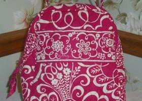 Vera Bradley Lunch Bag Tote Twirly Bird Pattern