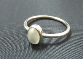 Your Choices : Oval Gemstone Stacking Ring