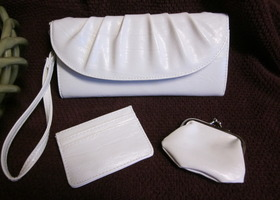 Style & Co Bright White Wristlet/Clutch