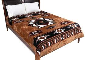 Wyndham House™ Brown Native American Print Blanket