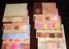 "72 Sheets Assorted 12x12"" Papers Scrapbooking Miss Eli"