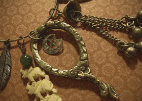 Vintage/Salvage Gypsy Inspired Necklace
