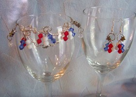 Patriotic Sparkle 4th Set w/ Swaroski Crystals