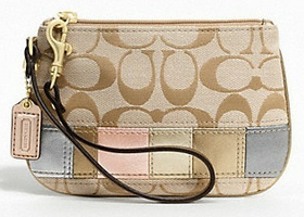 Coach Signature Multi Stripe Small Wristlet