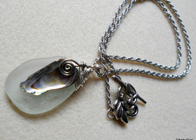 Artisan ♥  Sea Glass Pendant Necklace