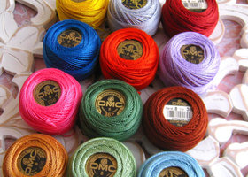 12, DMC Perle Threads #8, You Choose color